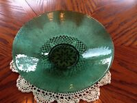 """""""EXQUISITE"""" RIBBED GREEN BOWL **NEW PRICE**$10.00"""