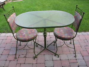 BEAUTIFUL BISTRO TABLE and CHAIRS SET - $150