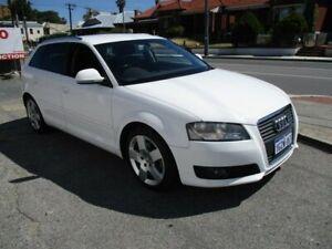 2009 Audi A3 8P TFSI White Sports Automatic Dual Clutch West Perth Perth City Area Preview