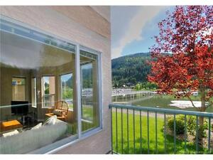 Updated WATERFRONT Condo in Sicamous with 2 Balconies/Boat Slip