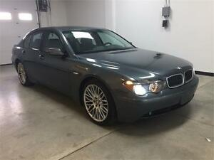 2003 BMW 745i, navi, massage seats, low kms.