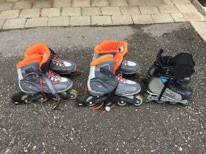 Roller Blades - 2 Nike and 1 Bauer for $20.00