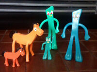 Gumby and Friends Bendy Toys