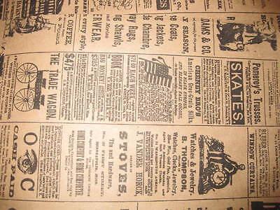 Lot 75 6x9 Newspaper Print Paper Kraft Bagsvintage Style Newsprint Favor Craft