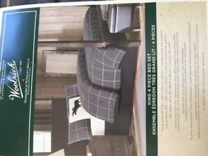 Bedspread Set - King Size Woolrich Cumberland  Plaid
