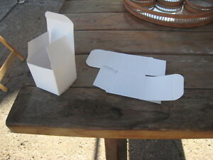 2 x 2 White Glossy Boxes - For Party Favours or Other