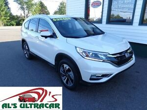 2015 Honda CR-V Touring w/ leather, NAV only $239 bi-weekly!