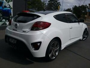2014 Hyundai Veloster FS MY13 SR Turbo White 6 Speed Automatic Coupe Greenacre Bankstown Area Preview