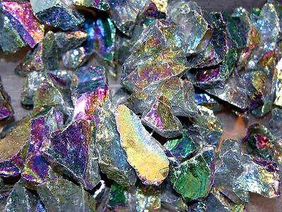 Rainbow Aura Quartz - Rainbow Aura crystal quartz bigger drilled necklace/pendant 1-1.7