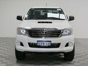 2013 Toyota Hilux KUN26R MY14 SR (4x4) White 5 Speed Manual Dual Cab Pick-up Morley Bayswater Area Preview