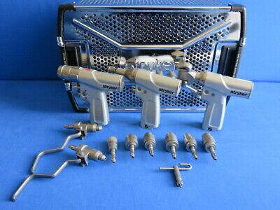 Stryker System 7 Set 7205 7206 7208 8 Attachments Case Warranty