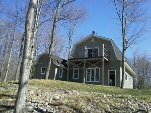 lake front house for rent in Goulais - rustic lot, modern home