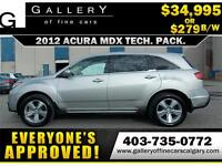 2012 Acura MDX SH-AWD $279 bi-weekly APPLY NOW DRIVE NOW