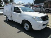 2010 Toyota Hilux KUN26R MY10 SR White 5 Speed Manual 2D CAB CHASSIS Croydon Burwood Area Preview