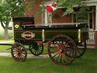 Draft Horse Custom Built Show Wagon