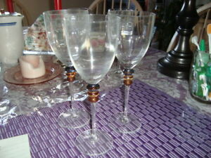 3 Large Pretty Stemware