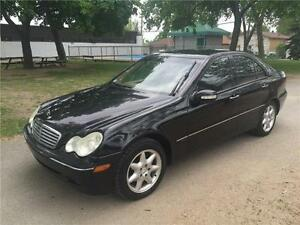 2001 MERCEDES C240 , 4 MATIC ,  AUTOMATIQUE ,AC, SIEGES CUIR