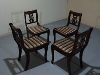 "2 - ""Fiddleback Chairs"" Beautifully constructed"