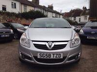 Vauxhall Corsa 1.4 i 16v Design 5dr (a/c)£2,795 2008 (58 reg), Hatchback