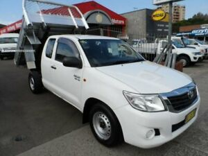 2013 Toyota Hilux GGN15R MY12 SR White 5 Speed Automatic X Cab Pickup Rockdale Rockdale Area Preview