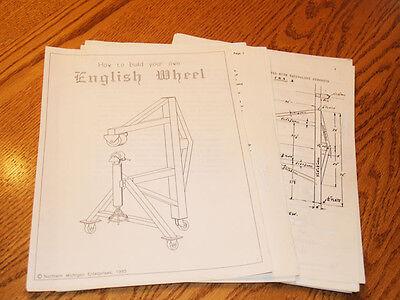 English Wheel Plans Eaa Auto Restoration Sheet Metal Fabrication