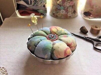 Vintage Jell-O Mold Pincushion Quilt Piece Pin cushion
