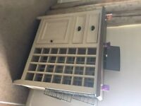 Barker & Stonehouse Drawer and Winerack unit.