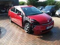 2008 TOYOTA PRIUS T-SPIRIT HYBRID 1.5 VVI-A AUTO SALVAGE DAMAGED REPAIRABLE