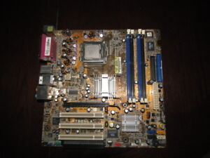 ASUS Socket 775 Motherboard with CPU and cooler