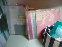 Papers and folders, rubber stamps - 2