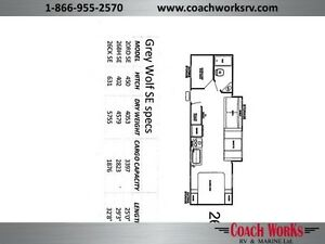 Only $92 b/w! LAST ONE!   26 CKSE Open Floor Plan w/Double Bunks Edmonton Edmonton Area image 20
