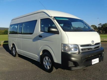 2012 Toyota Hiace KDH223R MY11 Commuter White 4 Speed Automatic 4D Bus