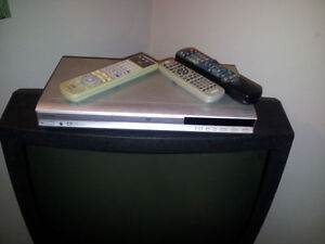 CRT TV WITH DVD PLAYER  - mint condition
