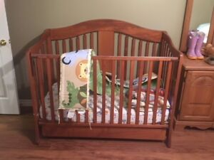 Crib and Playpen for sale.