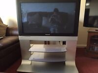 """37"""" Panasonic television with integrated stand and remote control"""
