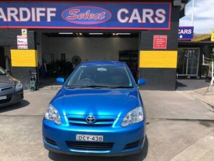 2006 Toyota Corolla ZZE122R MY06 Upgrade Ascent Seca Blue 5 Speed Manual Hatchback Cardiff Lake Macquarie Area Preview
