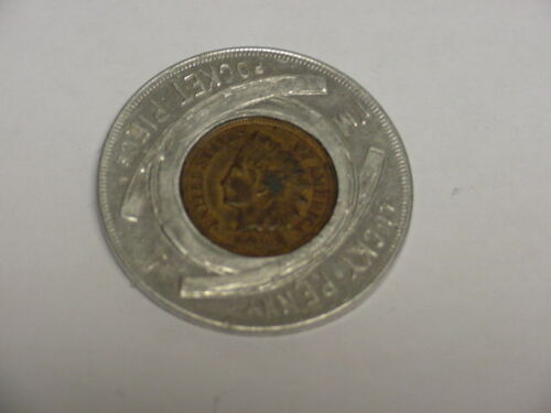 1901 PAN AMERICAN LUCKY PENNY WITH 1901 INDIAN HEAD CENT