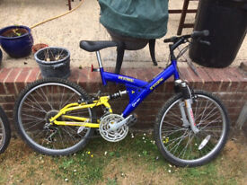"""Boys 17"""" Bike 15 gears with suspension. Some specks of rust but in good condition. £25 ono"""