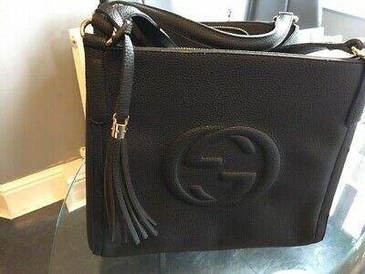 Black Gucci Leather tote handbag