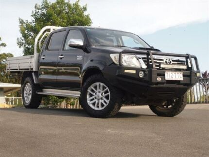2014 Toyota Hilux KUN26R MY14 SR5 Double Cab Black 5 Speed Manual Utility Chevallum Maroochydore Area Preview