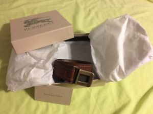 New Authentic Burberry leather belt