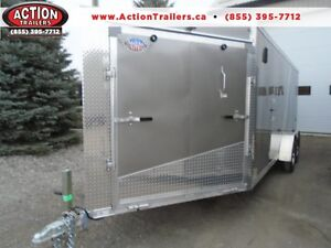 DELUXE 23' DRIVE IN/OUT ALUMINUM SPORT TRAILER - SAVE $$$!