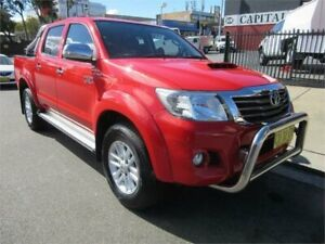 2014 Toyota Hilux KUN26R MY14 SR5 (4x4) Red 5 Speed Automatic Dual Cab Pick-up Croydon Burwood Area Preview