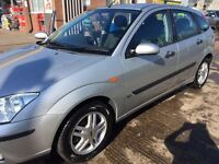 2002 Ford Focus 1.6 Zetec Petrol, Silver : 78,000 miles & taxed until 1st October 2017