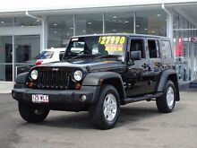 2009 Jeep Wrangler JK MY2010 Unlimited Sport Black 6 Speed Manual Softtop Garbutt Townsville City Preview