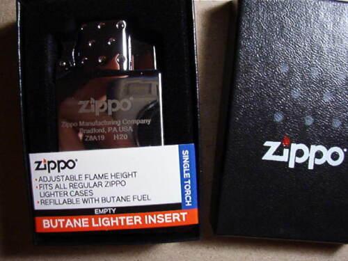 ZIPPO LIGHTER  NEW  BUTANE INSERT SINGLE BLUE TORCH  WITH BOX  65826