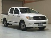 2008 Toyota Hilux GGN15R MY08 SR 4x2 White 5 Speed Automatic Utility Bibra Lake Cockburn Area Preview