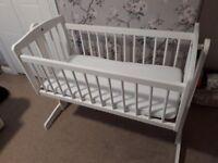 White crib / cot.