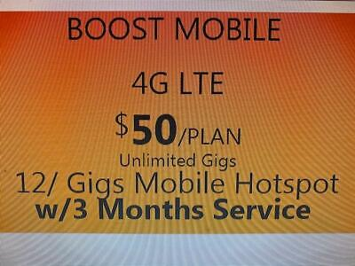 Boost Mobile BYOD 3 Month Service PROMOTIONAL OFFER   $50 Unlimited Plan Boost Mobile Unlimited