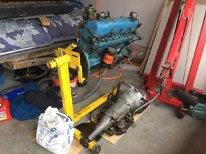 225 Slant 6 Complete Engine and 3 Speed Automatic Transmission